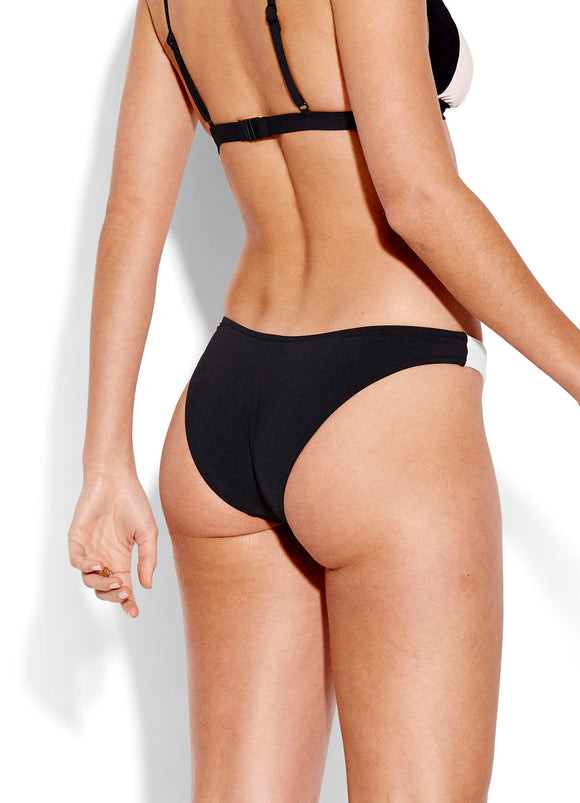 Seafolly Pop Block High Cut Bikini Pant - Black | Shop at GOALS NZ