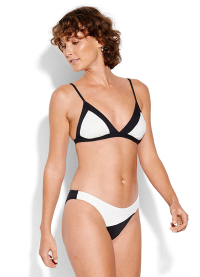 Seafolly Pop Block High Cut Bikini Pant - Black