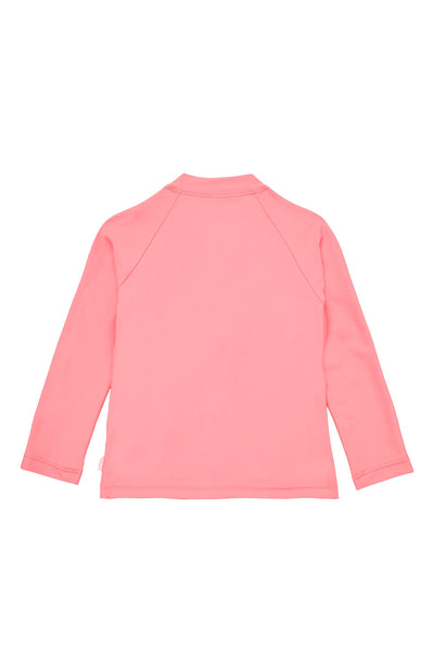 Seafolly Kids Sweet Summer LS Zip Front Rashie - Pink Punch