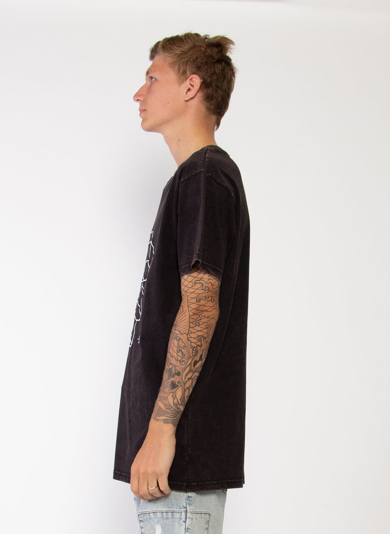 Mens Aye Tee - Penrose - Washed Black