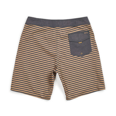 Brixton Barge Stripe Swim Trunks - Black/Bronze