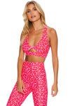Twist Top - Love Leopard/Neon Pink | Shop Beach Riot at GOALS NZ