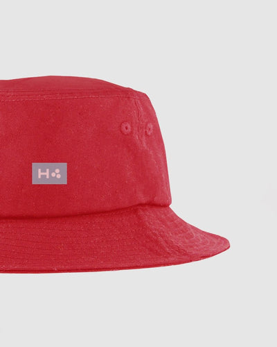 Huffer Bucket Hat/3 Ball - Red