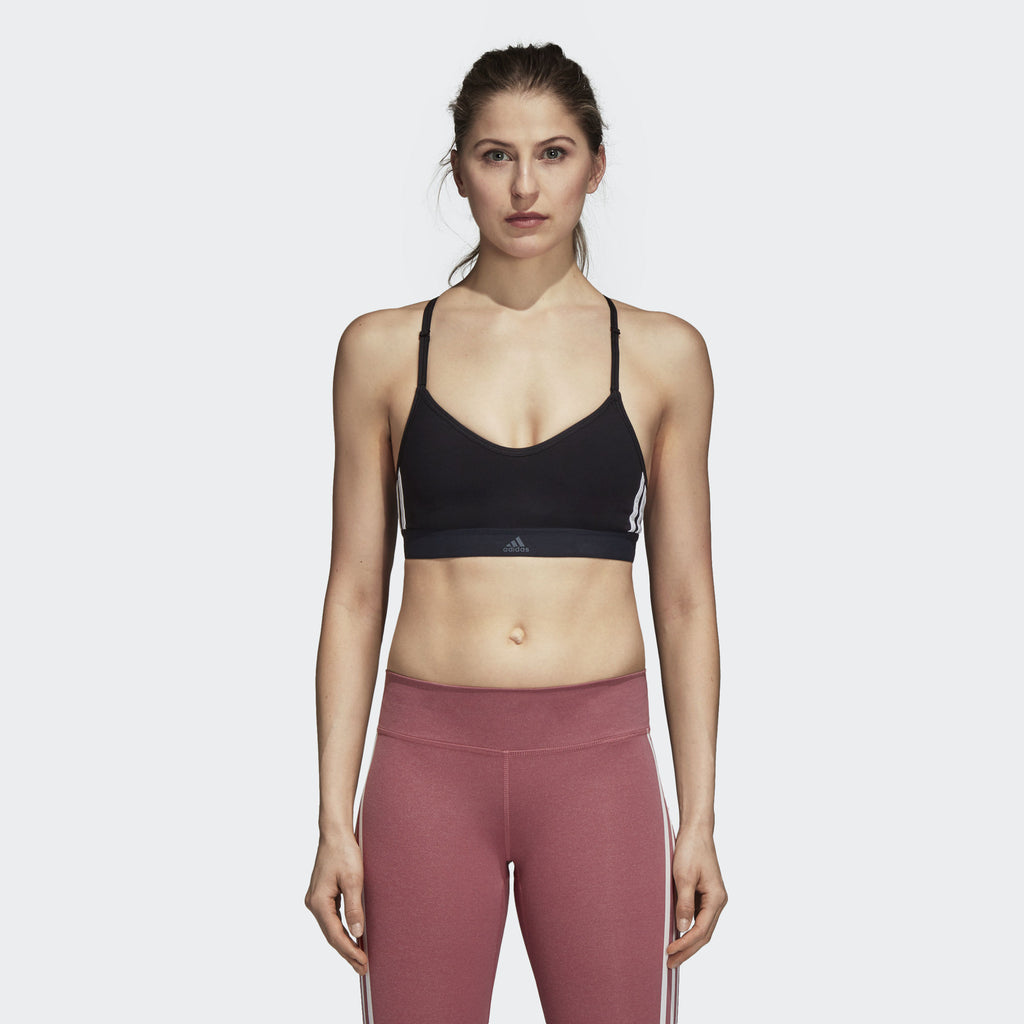 All Me 3 Stripes Sports Bra - Black