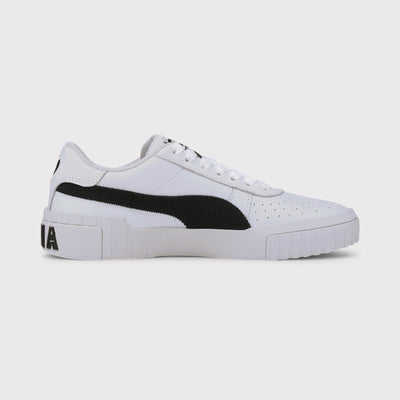 Puma Womens Cali Corduroy Sneakers - White/Black | Shop at GOALS NZ