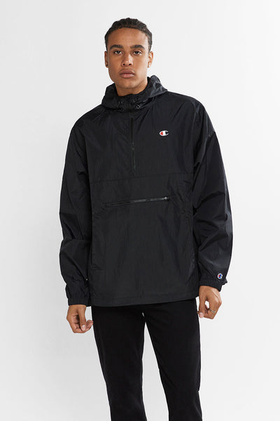 Champion Packable Anorak - Black | Shop at GOALS Arrowtown NZ