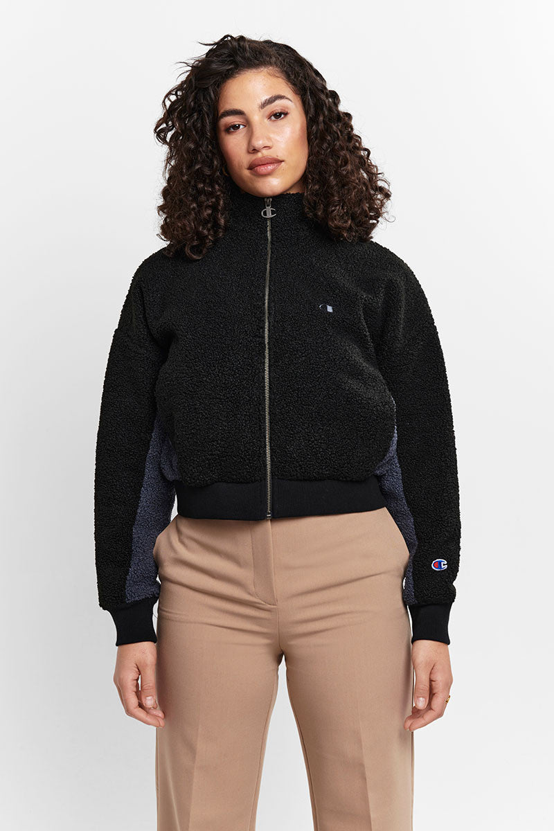 Womens Sherpa Jacket - Black