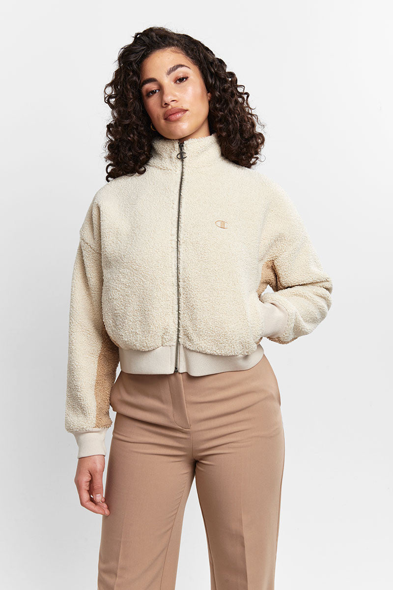 Womens Sherpa Jacket - Pebblestone