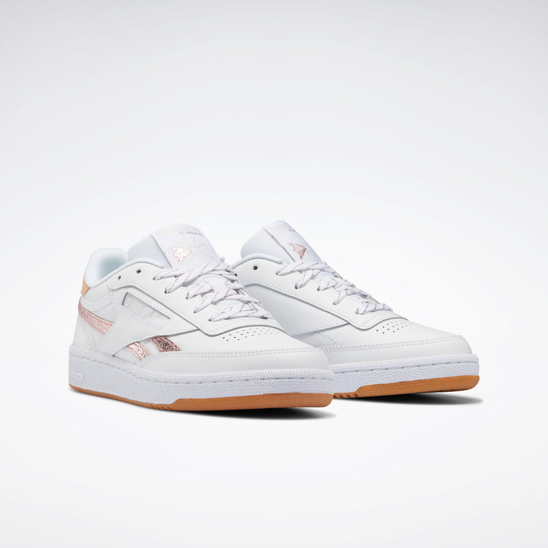 Reebok Womens Club C 85 - White/Blush Metal/Morning Fog