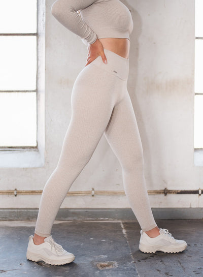 Aim'n Ribbed Seamless Tight Full Length - Beige