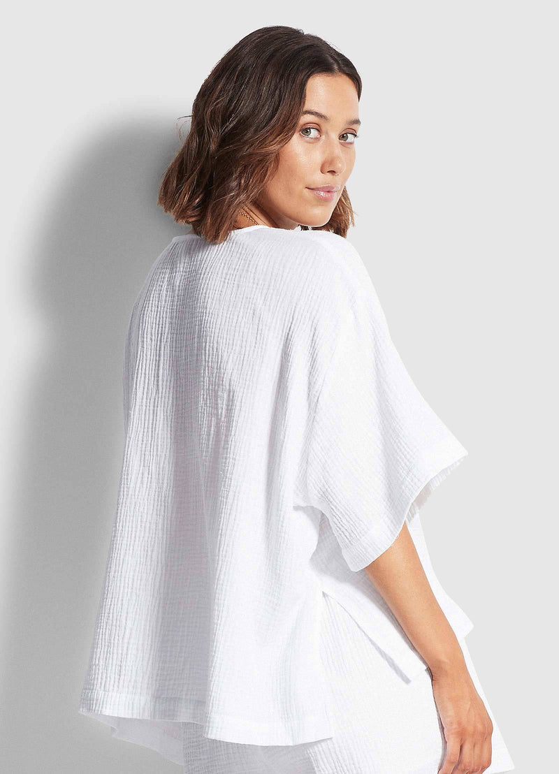 Seafolly Double Cloth Top - White