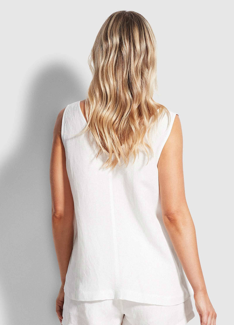 Seafolly Essential Linen Top - White