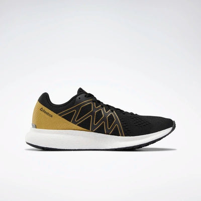 Reebok Forever Floatride Energy Shoes - Black/White/GoldMet. shop online or in store at GOALS