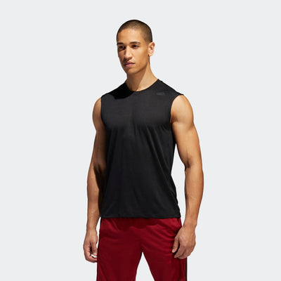 Men's FreeLift Tech Climacool 3-Stripes Tee - Black/Heather | Shop adidas at GOALS in Arrowtown, NZ