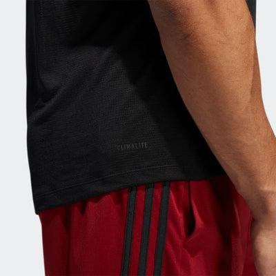 Men's FreeLift Tech Climacool 3-Stripes Tee - Black/Heather