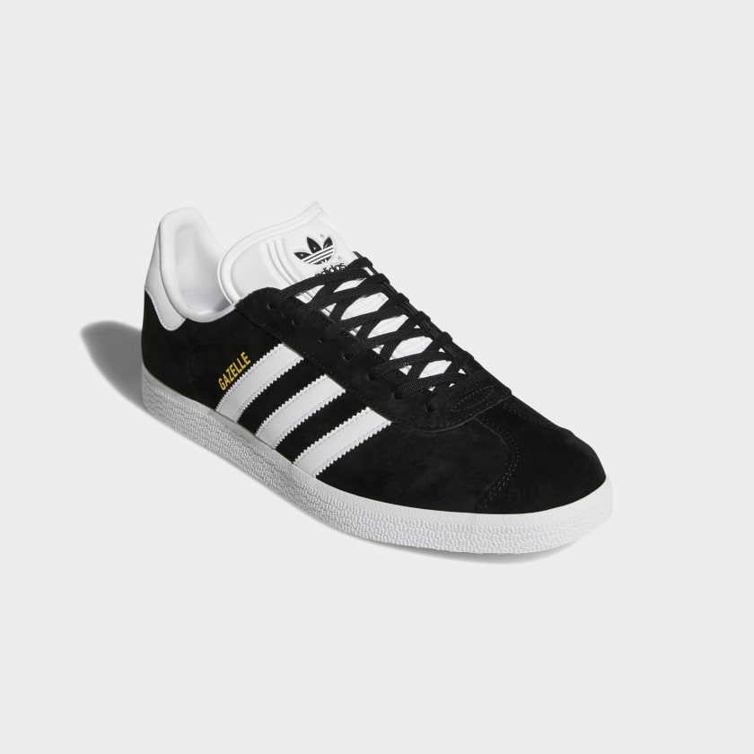 Gazelle Sneakers - Black/White/Gold
