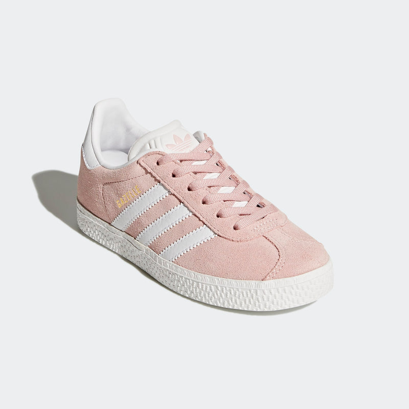 Kids Adidas Gazelle - Ice Pink/White | Shop Adidas Originals GOALS NZ