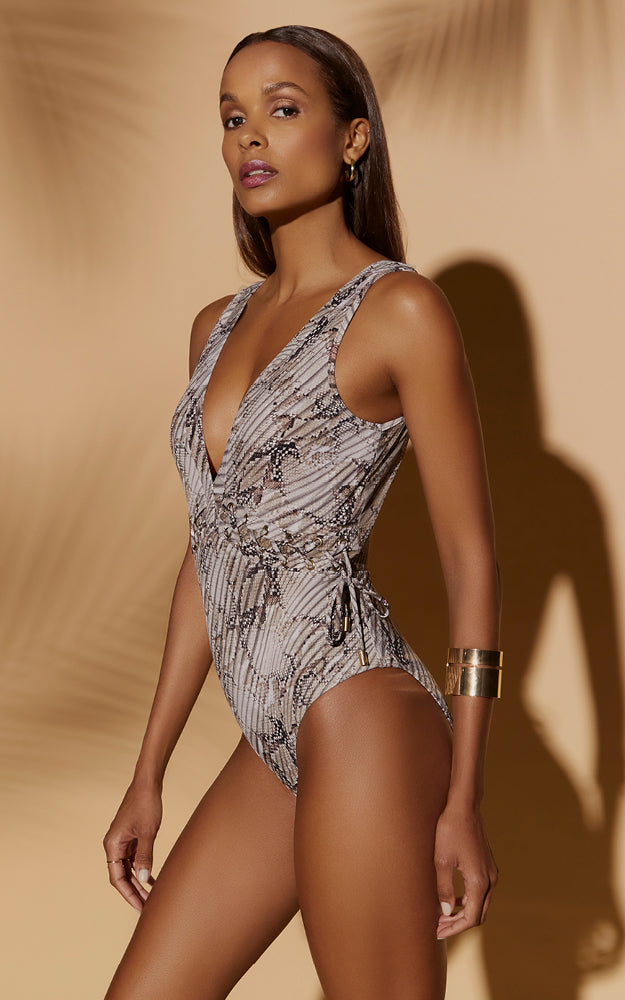 Awakening Plunge One Piece - Nude