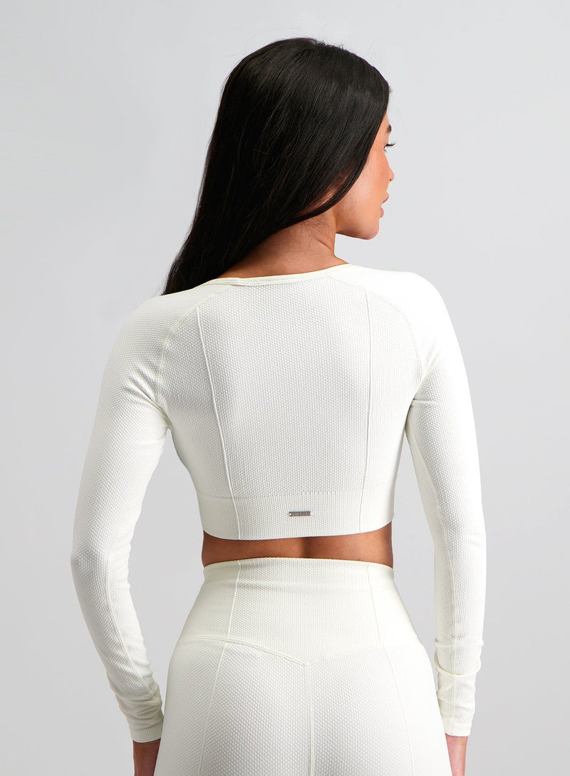Aim'n Luxe Seamless Crop LS - Off White
