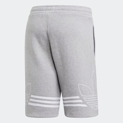 Mens Outline Shorts - Grey