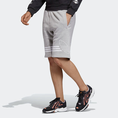 Mens Outline Shorts - Grey | Shop adidas at GOALS in Arrowtown, NZ