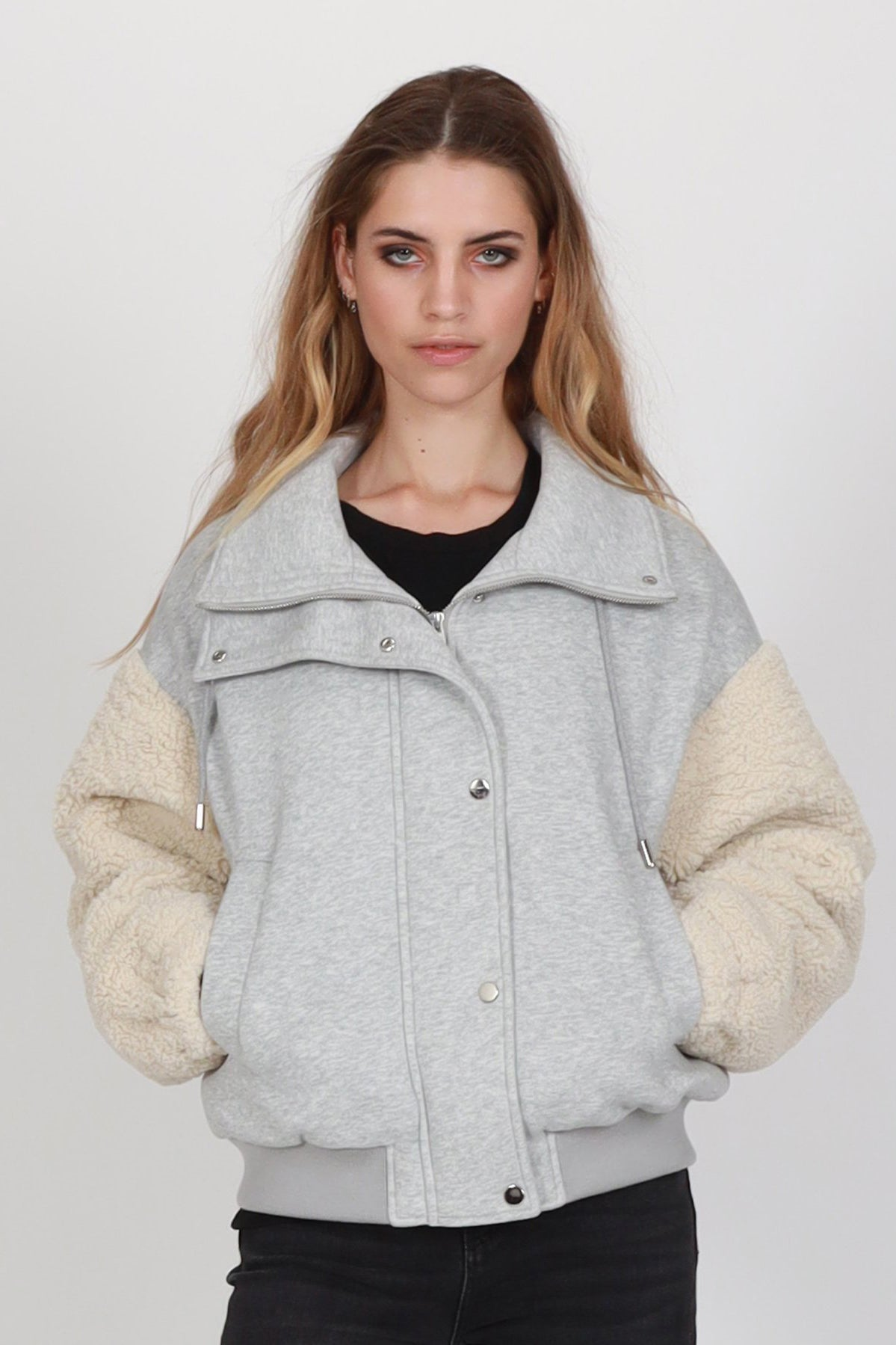 Rally Jersey Jacket - Neutral/Grey Marle