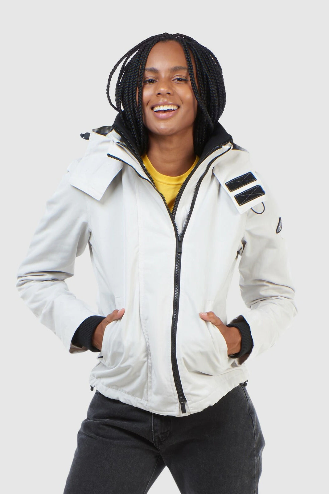 Womens Ottoman Arctic Windcheater - Ecru