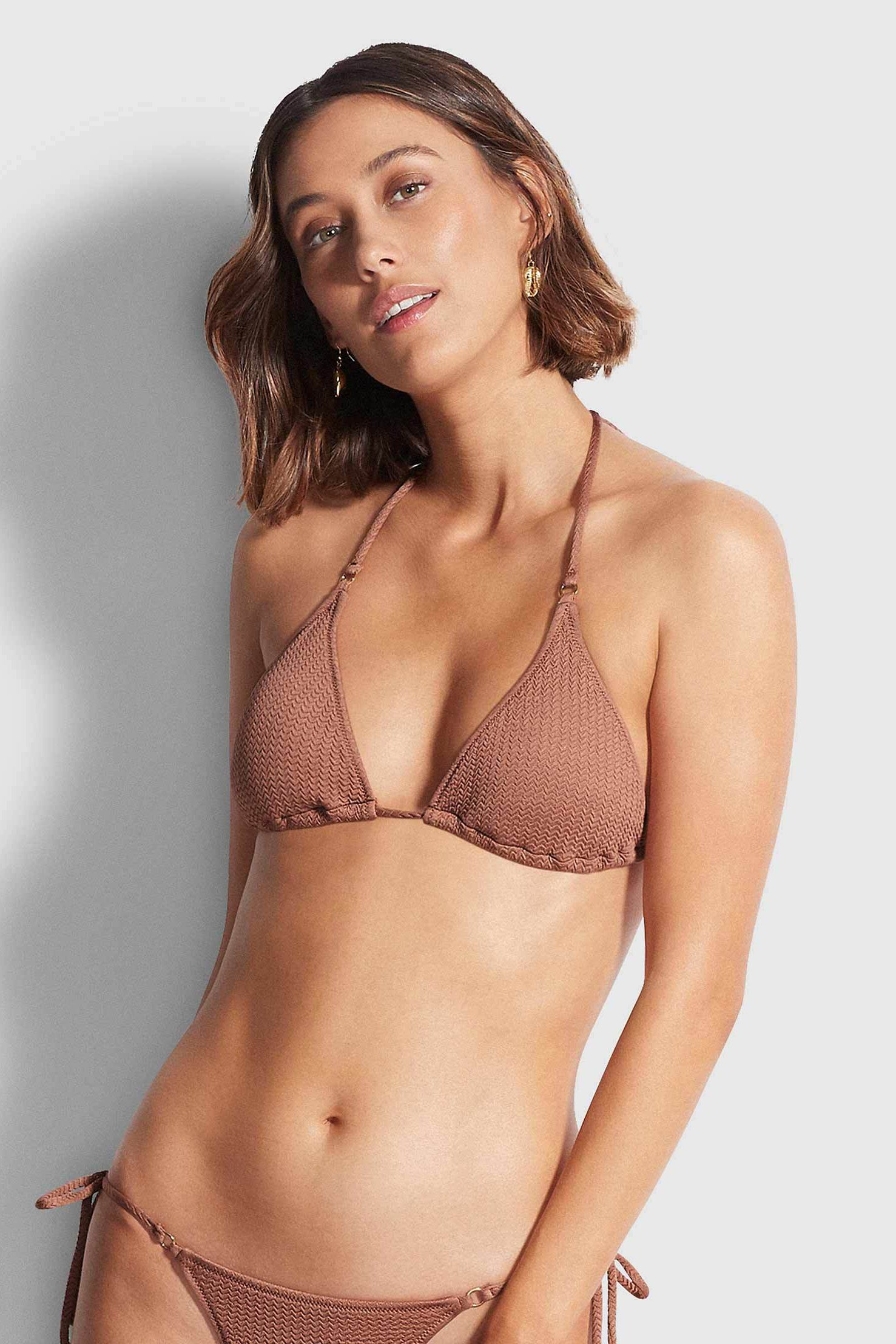 Seafolly Sea Dive Slide Tri - Bronze