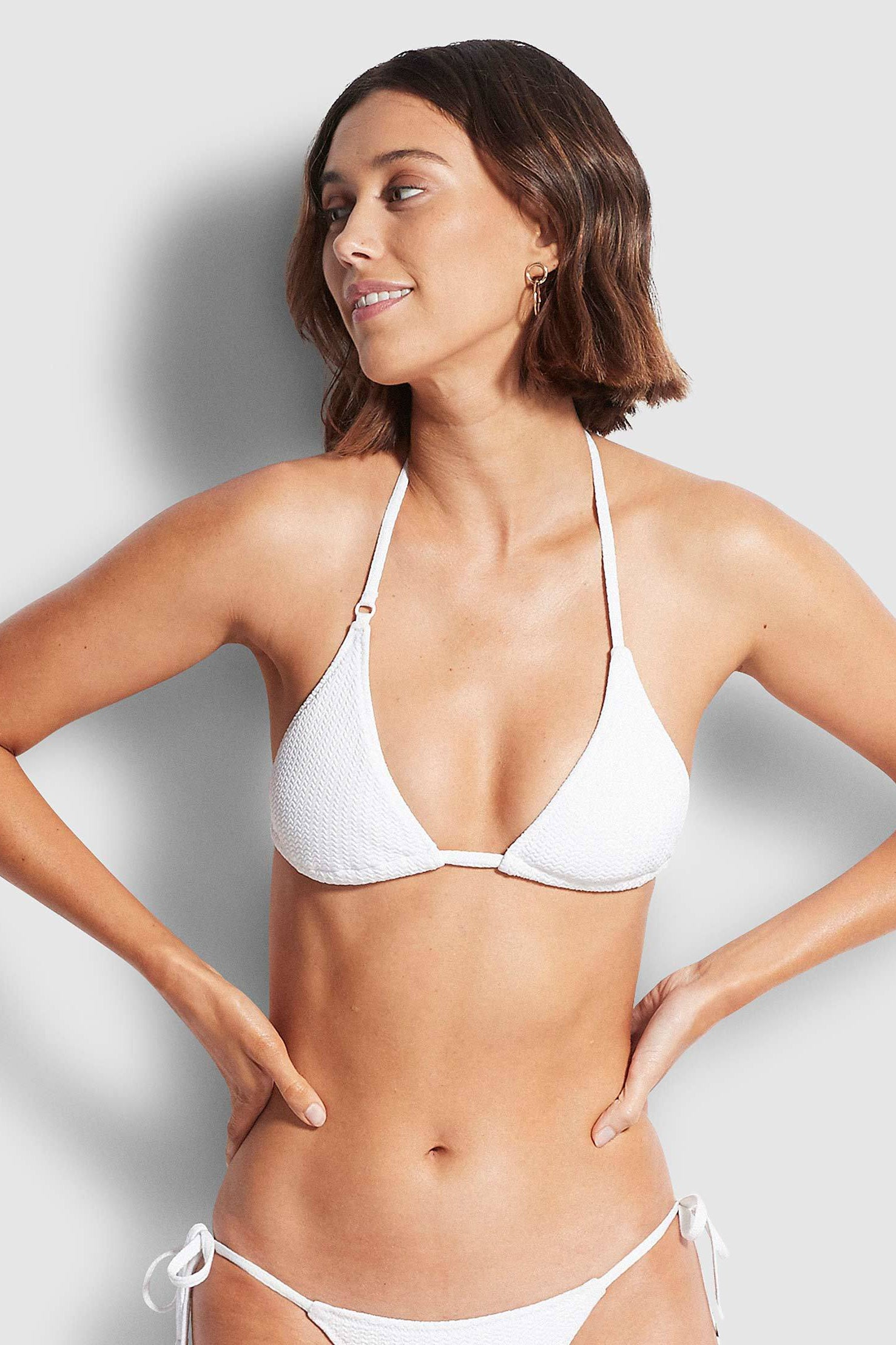 Seafolly Sea Dive Slide Tri - White