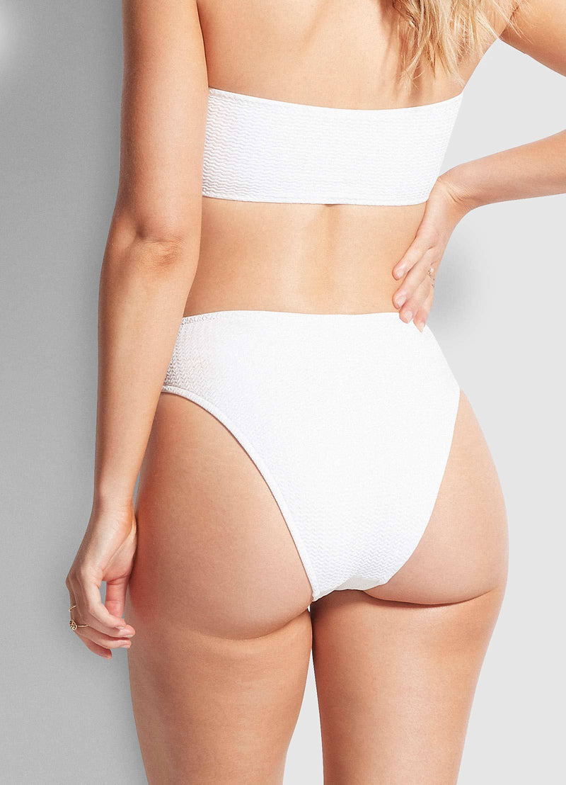Seafolly Sea Dive High Rise Pant - White