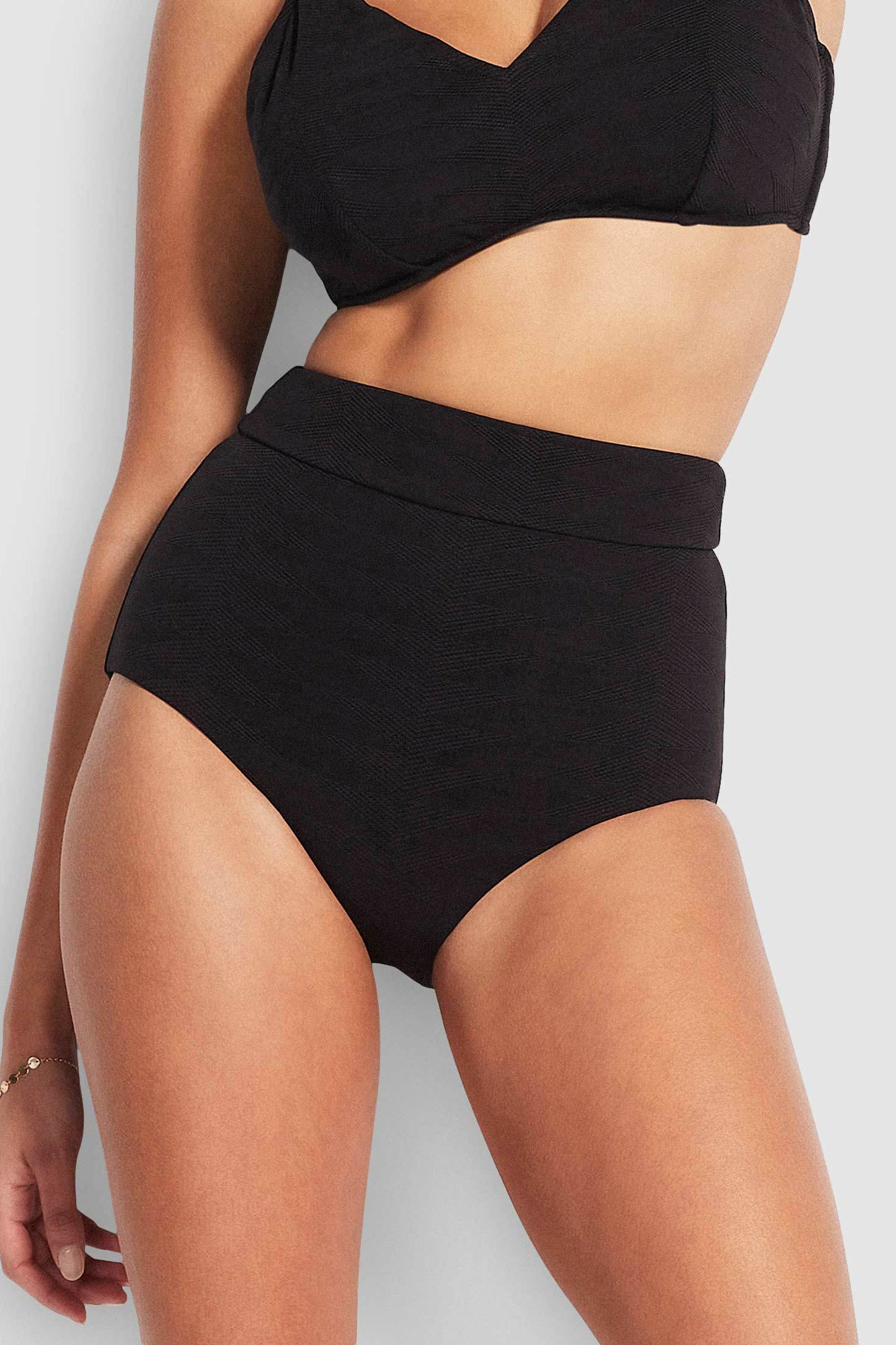 Seafolly Seaside Soiree High Waisted Pant - Black