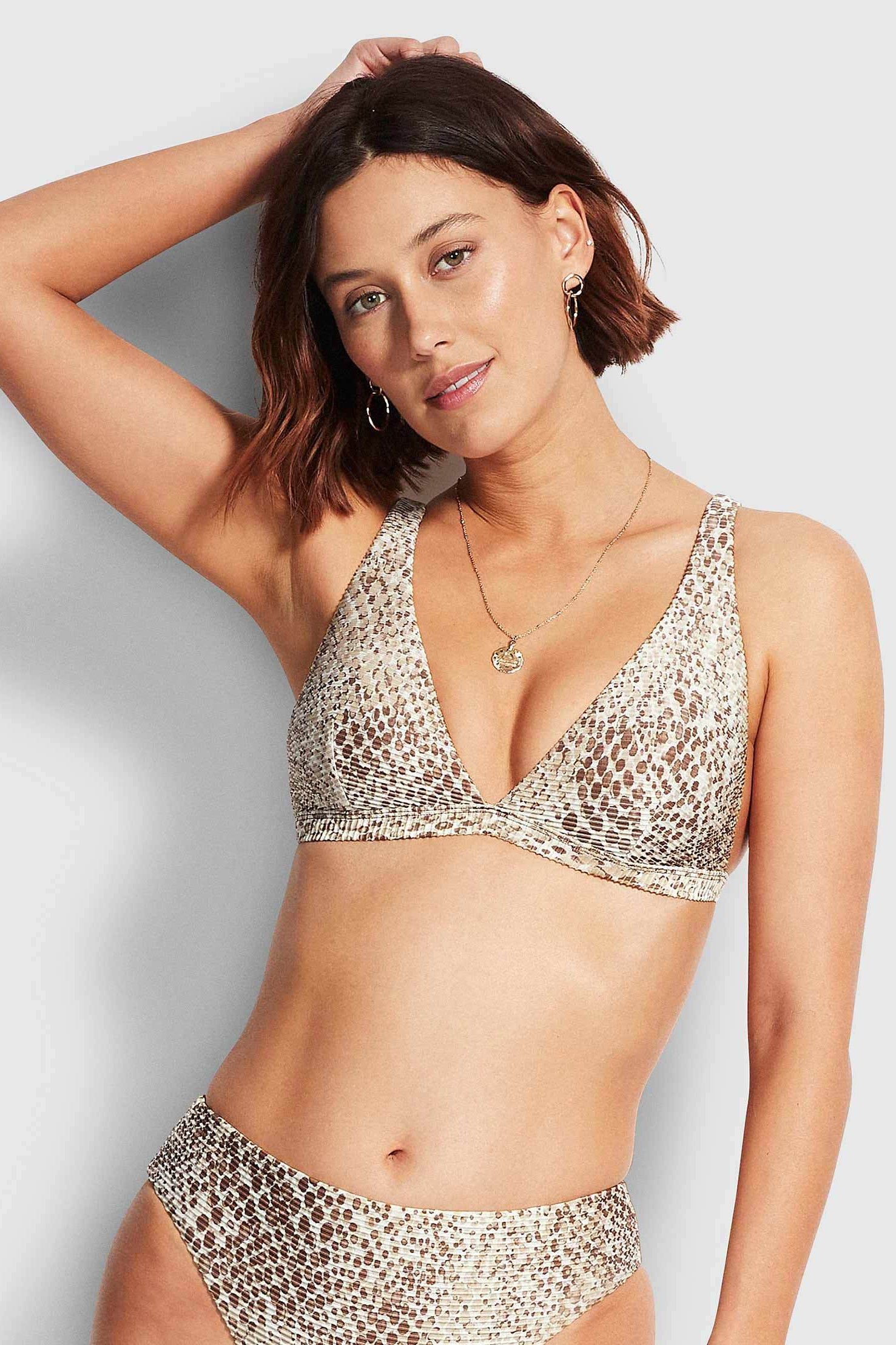 Seafolly Serpentine Longline Tri - Chocolate