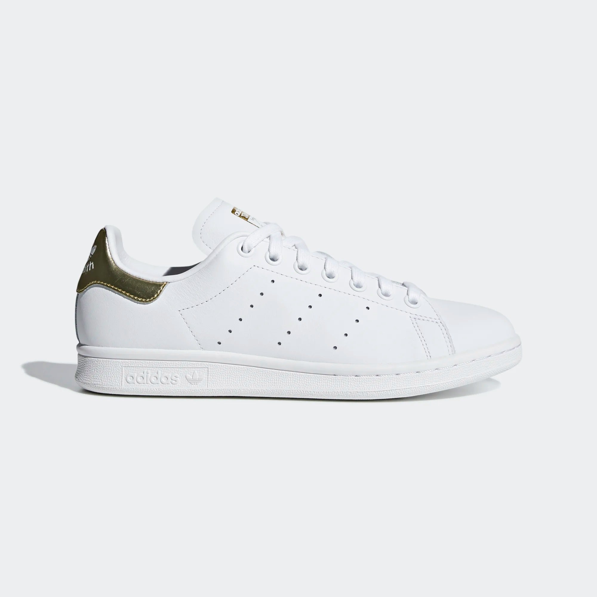 Womens Stan Smith Shoes - White/Gold
