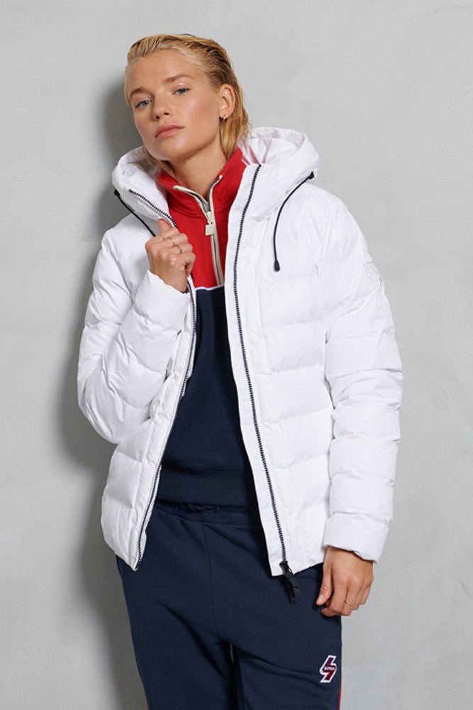 Womens Boston Microfibre Jacket - White