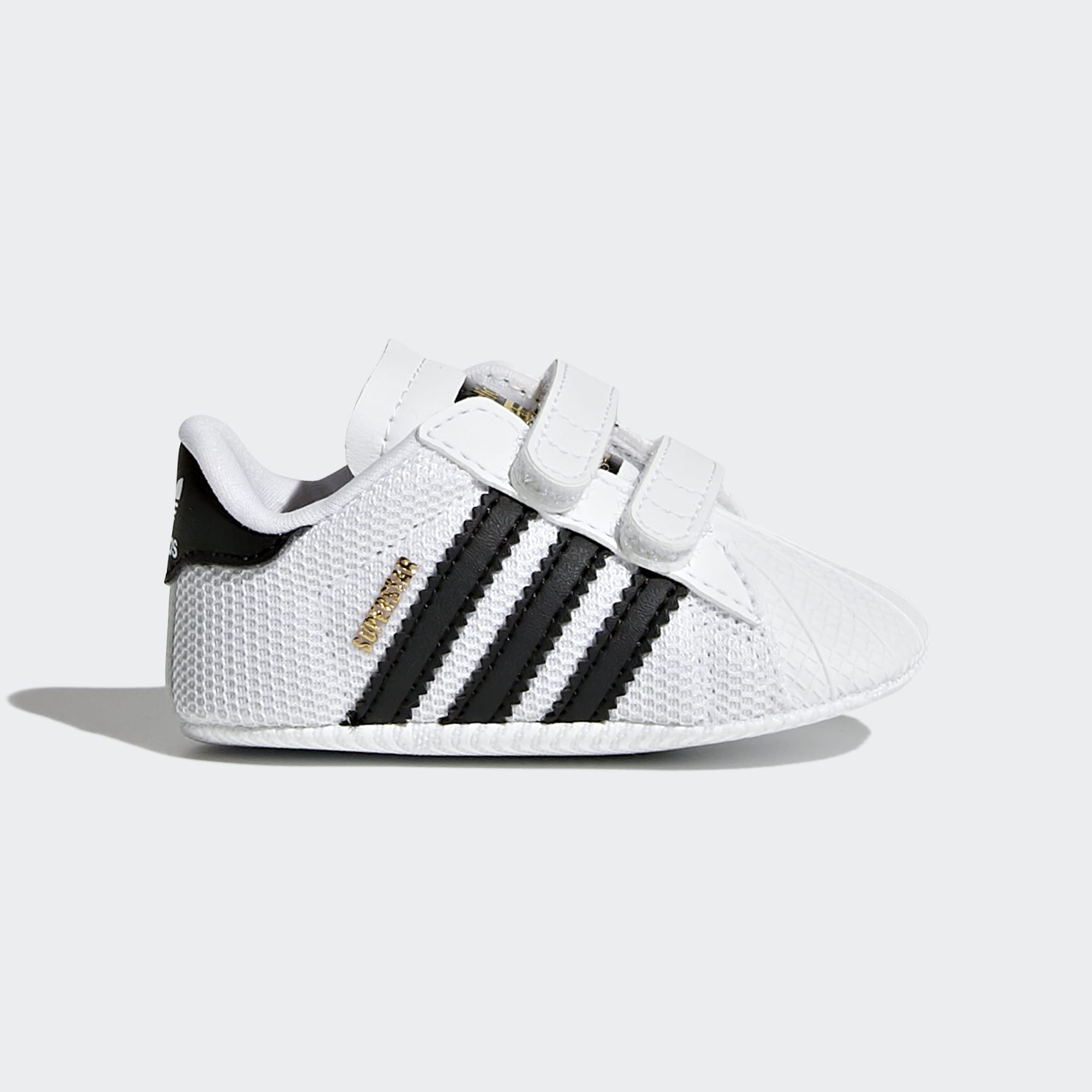 Toddler Superstar Crib Shoes - White