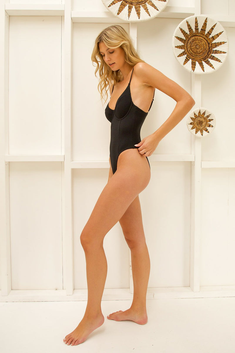 Tigerlily Santa Rosa Cindy One Piece - Black