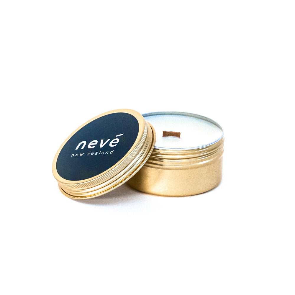 Nevé Travel Tin Candle - Pomegranate & Juicy Mango