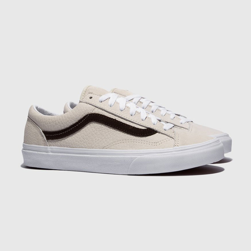 Vans Style 36 Grain Leather - White | Shop Vans at GOALS in Arrowtown, NZ