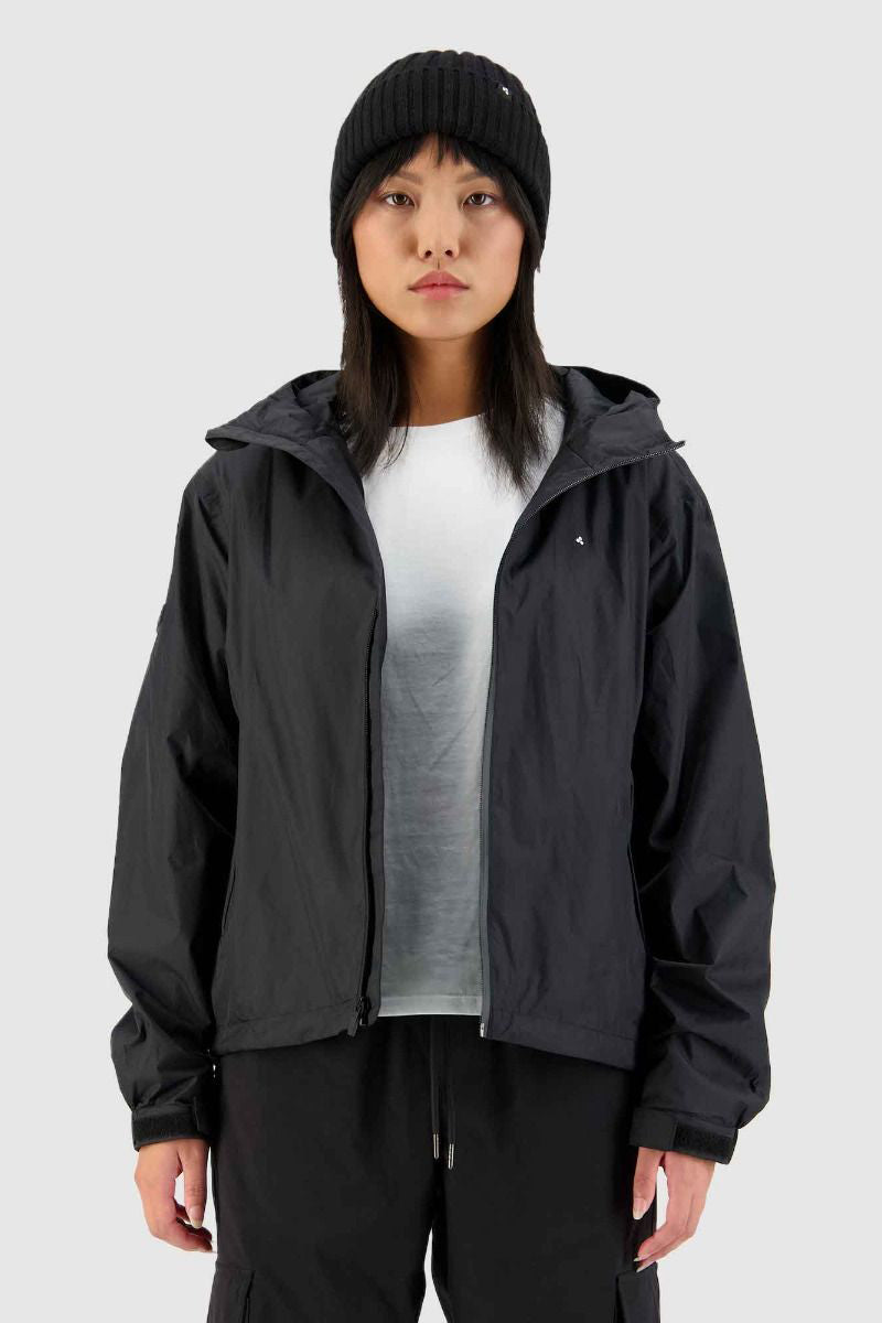 Huffer Womens Block Shell Jacket - Black
