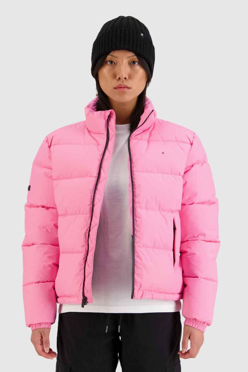 Huffer Womens Track Puffer Jacket - Taffy