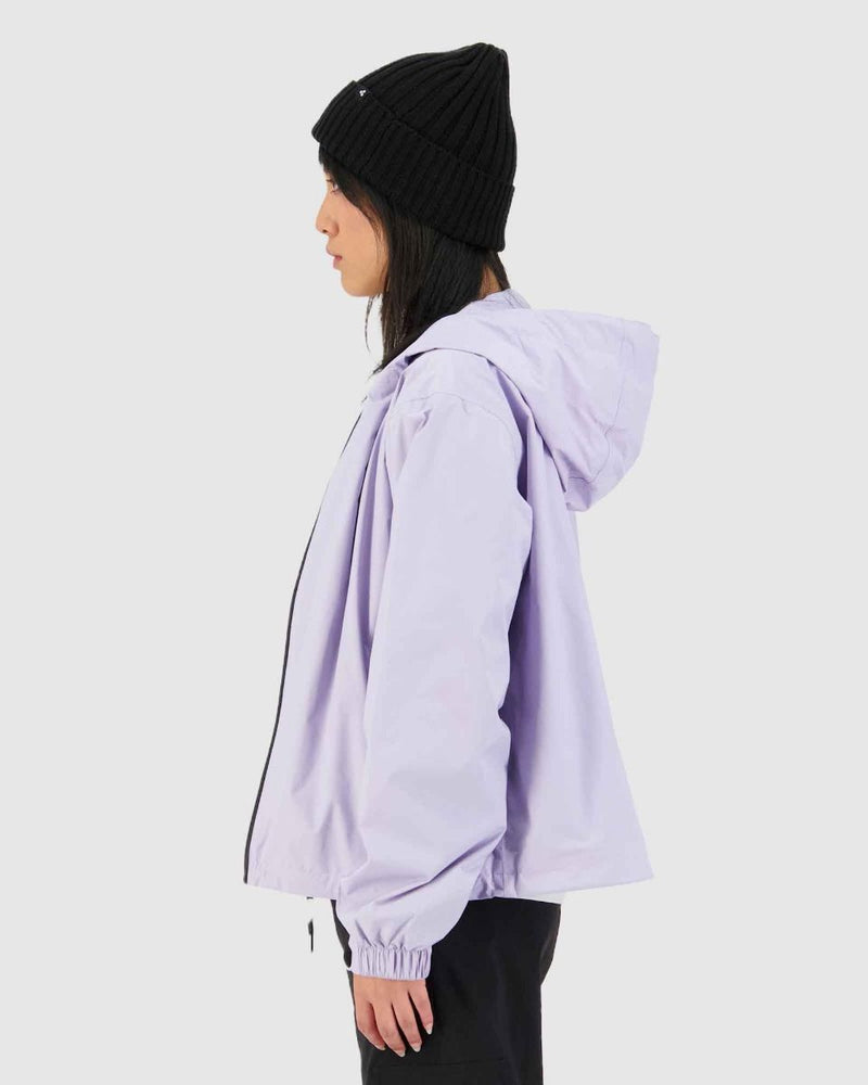 Huffer Womens Block Shell Jacket - Lilac