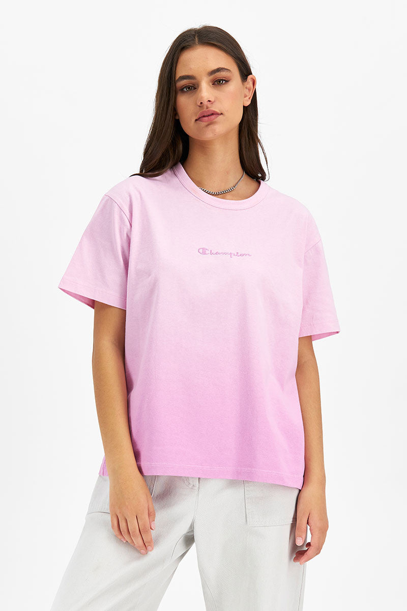 Heritage Ombre Oversized Tee - Paper Orchid