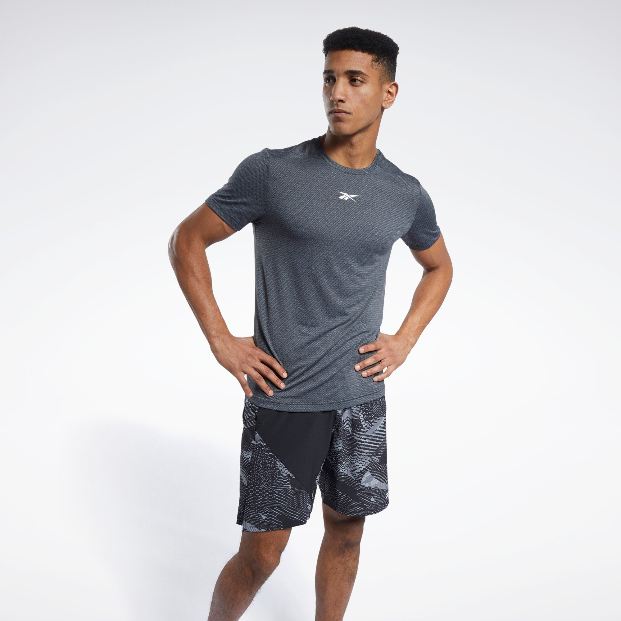 Reebok Mens Workout Ready Melange Tee - Black
