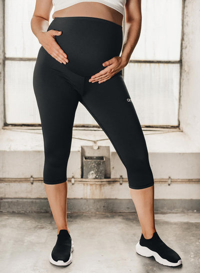 Aim'n Aim High Maternity Tights 3/4 - Black