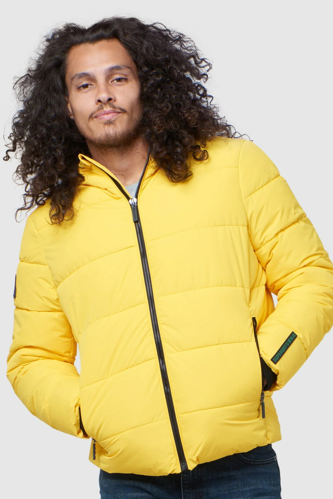 Superdry Mens Sports Puffer - Yellow