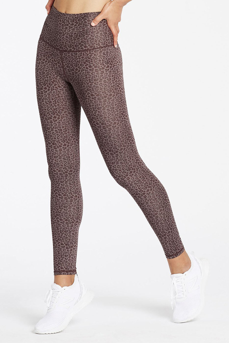 High Rise Long Legging II - Plum Cheetah