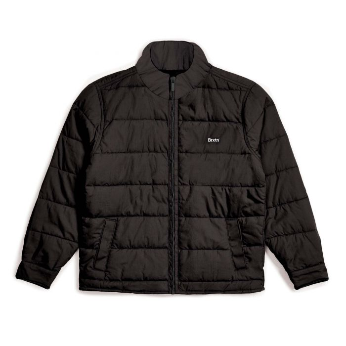 Brixton Cass Puffer Jacket - Black/Black | Shop at Goals