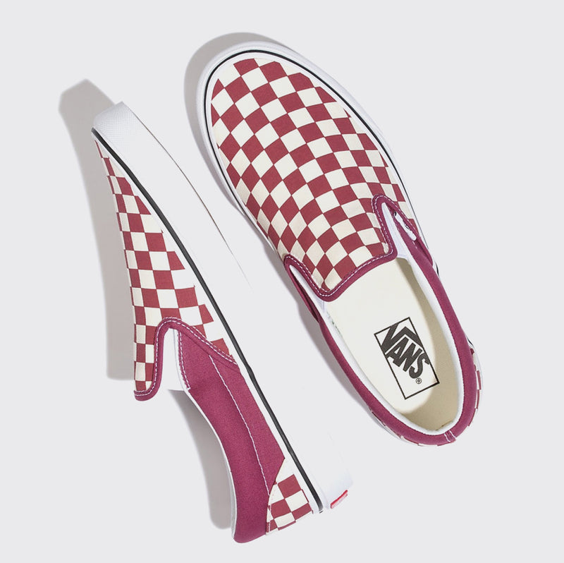 Vans Classic Slip On Checkerboard - Dry Rose/White