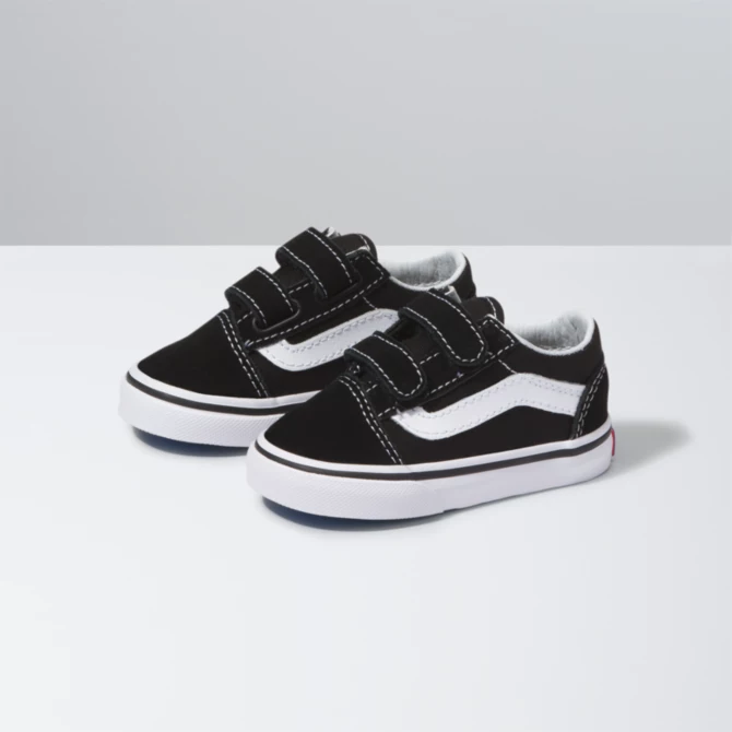Kids Vans Old Skool V - Black/True White