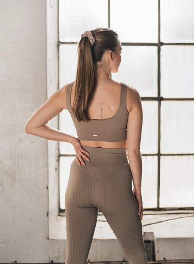 Aim'n Ribbed Seamless Bra - Espresso